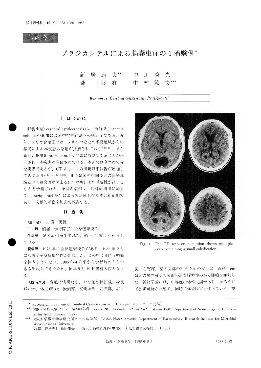 脳 嚢虫 症